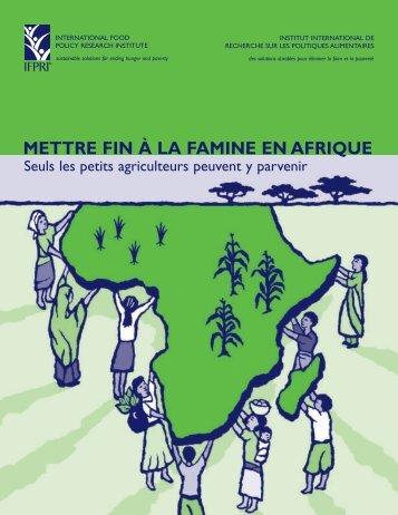 METTRE FIN À LA FAMINE EN AFRIQUE: Seuls ... - AgEcon Search