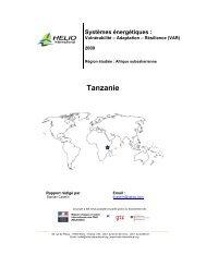 Tanzanie - HELIO International