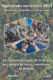 OPERATIONS TERRESTRES 2021 - Armée de terre canadienne