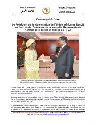 Lettres de Créances - Ambassadeur du Niger ... - African Union