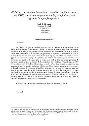 RC et cond fin PME - Lille 3