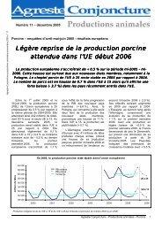 Légère reprise de la production porcine attendue dans l ... - Agreste
