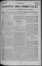 GAZETTE DES TRIBUNAU