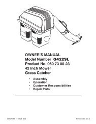 OWNER'S MANUAL Model Number G422SL Product ... - Home Depot