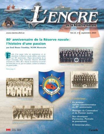80e anniversaire de la Réserve navale - The Canadian Navy ...