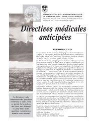 directives médicales anticipées - Hôpital général juif