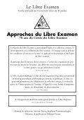 Approches du Libre Examen - Homepages Vub Ac - de l'Université ... - Page 2