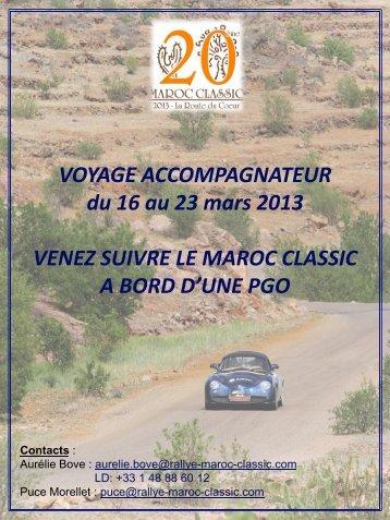 Télécharger l'offre Voyage Accompagnateur PGO - Rallye du Maroc ...