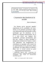 L'expression des émotions et la société1 - CCHLA