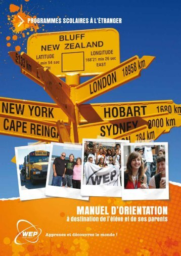 Manuel d'orientation - Programme scolaire - FR - the WEP Resource ...