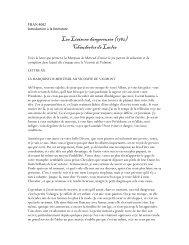 Les Liaisons dangereuses (1782) Chauderlos de Laclos