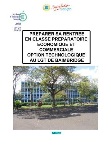 CPGE Economique et Commerciale Option ... - LGT Baimbridge