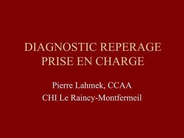 DIAGNOSTIC REPERAGE PRISE EN CHARGE - Santé Durable