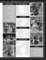 2010 Duke University Women's Lacrosse - XOS Product Marketing
