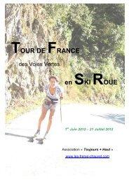 Tour de France en Ski Roues - Les frères Chauvet