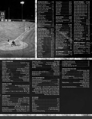 ARKANSAS BASEBALL ............ 1-20 Table of Contents/Quick Facts ...