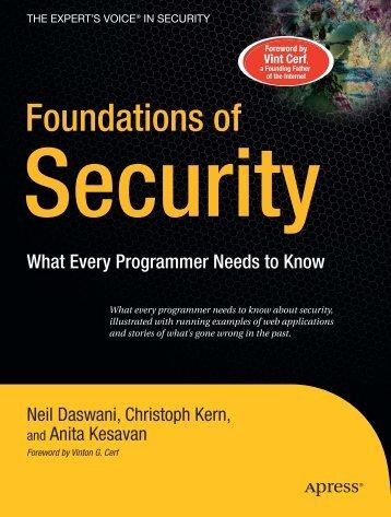 Foundations of Security - ADReM