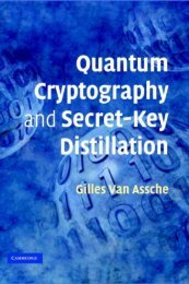 Quantum Cryptography and Secret-Key Distillation - ADReM