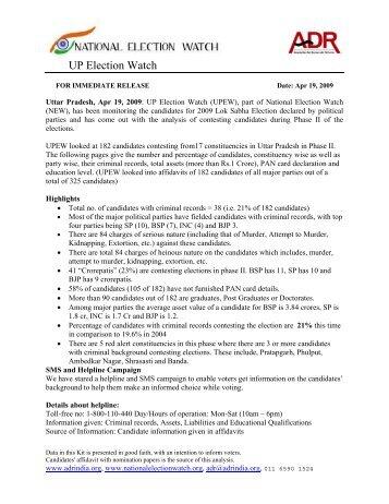 FOR IMMEDIATE RELEASE Date: Apr 11, 2009 - Association for ...