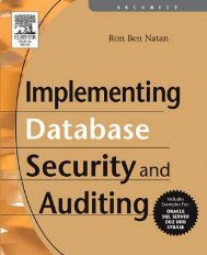 Implementing Database Security and Auditing: Includes ... - ADReM