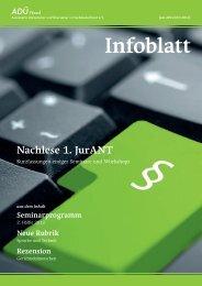 im ADÜ Nord! - Infoblatt - ADÜ Nord