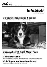 Infoblatt - ADÜ Nord