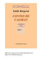 CONTES DE CALIBAN - Livres pour tous