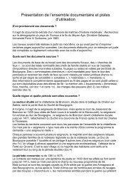le document de présentation de la seigneurie - Académie de Reims