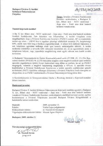 Budapest Főváros X. kerület Kőbányai Önkormányzat Főépítész ...