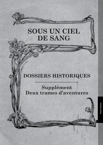 Sous un ciel de Sang: Bonus - Editions Sans-Détour