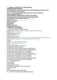 (III.31.) IRM rendelethez KÖZBESZERZÉSI ÉRTESÍTŐ A ...