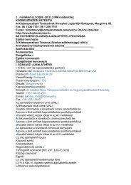 3 . melléklet az 5/2009. (III.31.) IRM rendelethez KÖZBESZERZÉSI ...