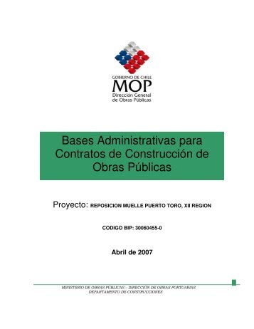 Bases Administrativas para Contratos de Construcción de Obras ...