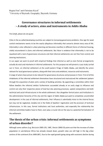 policy study on informal settlement waterways