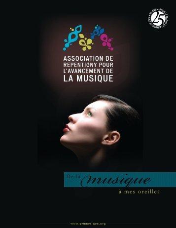Dossier commandites 25 ans - Association de Repentigny pour l ...
