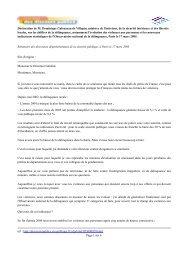 Déclaration de M. Dominique Galouzeau de Villepin ... - Vie publique