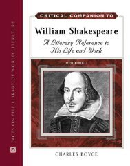 Critical Companion to William Shakespeare : a Literary Reference to ...
