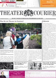 TheaterCourier - Sommerausgabe - 28. Juni 2013