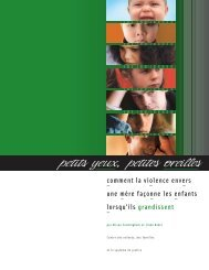 Petits yeux, petites oreilles - Centre for Children and Families in the ...