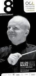 65 ANS - Orchestre de Chambre de Lausanne