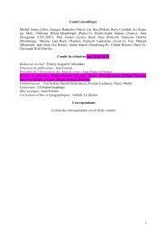 Comité scientifique - Le Site de Serge Muscat