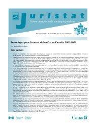 Les refuges pour femmes violentées au Canada ... - YWCA Canada