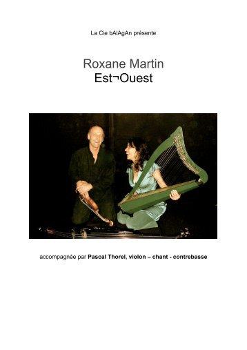 Roxane Martin Est¬Ouest - Compagnie Balagan