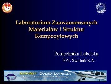 Laboratorium Zaawansowanych Materiałów i Struktur ... - AeroNet