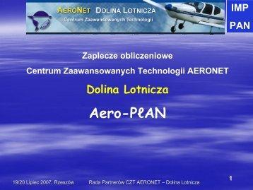 Zaplecze obliczeniowe CZT AERONET Aero-PLAN