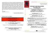 le programme - CIRM, Centre National de Création Musicale
