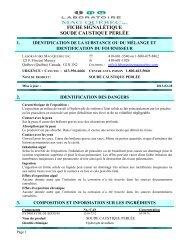 soude caustique perlée - Laboratoire Mag Québec inc.