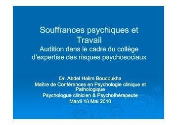 Powerpoint de la présentation d'Abdel-Halim Boudoukha