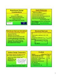 Greenhouse Energy Considerations