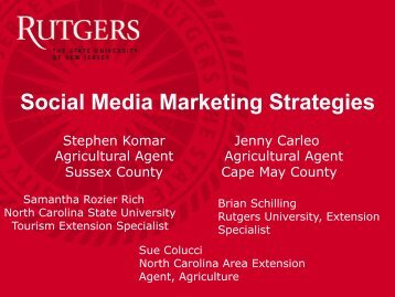 Social Media Marketing Strategies - Rutgers, The State University of ...